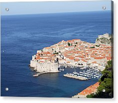 Acrylic Print featuring the photograph Dubrovnik Former Yugoslavia Croatia by Joseph Hendrix