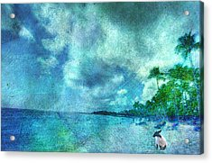 Acrylic Print featuring the digital art Dude Looks Like Rain by Jean Moore
