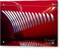 Duesenberg Hood Detail Abstract Acrylic Print by Howard Koby
