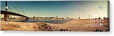 Duesseldorf Rhine Panorama Acrylic Print by Frank Waechter