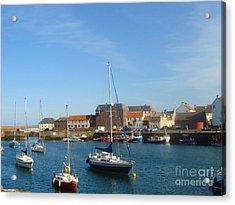 Dunbar Harbour Acrylic Print by Yvonne Johnstone