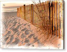 Dune Fence Acrylic Print