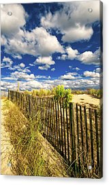 Acrylic Print featuring the photograph Dune Fence Me In by Jim Moore