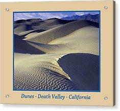 Dunes Poster Acrylic Print