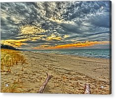 Acrylic Print featuring the photograph Dunes Sunset I by William Fields
