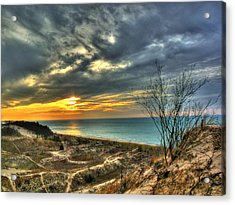 Acrylic Print featuring the photograph Dunes Sunset IIi by William Fields