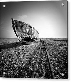 Dungeness Ship Wreck II Acrylic Print by Nina Papiorek