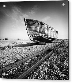 Dungeness Ship Wreck Acrylic Print by Nina Papiorek