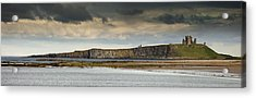 Dunstanburgh Castle On A Hill Under A Acrylic Print by John Short