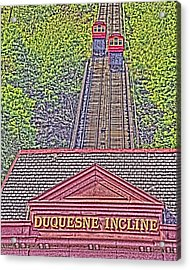 Duquesne Incline Art Acrylic Print by Tom Leach