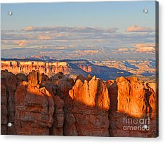Dusk At Bryce Canyon National Park Acrylic Print by Nature Scapes Fine Art