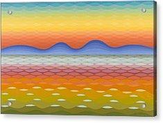 Dusk At Lake Balaton Acrylic Print by Emil Parrag