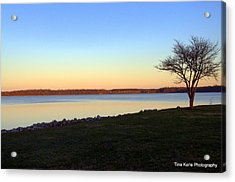 Dusk At The Lake Acrylic Print by Tina Karle