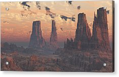 Dusk At The Towers Acrylic Print