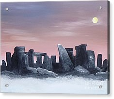 Dusk On The Winter Solstice At Stonehenge 1877 Acrylic Print by Alys Caviness-Gober