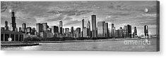 Dusk Over Chicago Acrylic Print by David Bearden