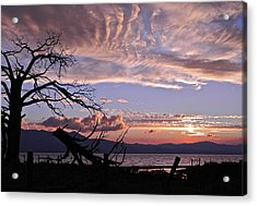 Acrylic Print featuring the photograph Dusk Over Lake Tahoe by Kirsten Giving