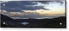 Dusk Panorama Of Skye Acrylic Print by Gary Eason