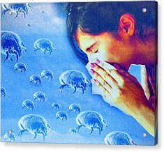 Dust Mite Allergy, Conceptual Artwork Acrylic Print by Hannah Gal