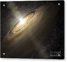 Dusty Disks Circling A Star Acrylic Print