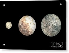 Dwarf Planets Ceres, Pluto, And Eris Acrylic Print by Walter Myers