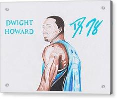 Dwight Howard Acrylic Print by Toni Jaso