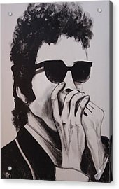 Dylan Acrylic Print by Pete Maier
