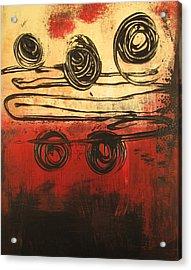 Dynamic Red 3 Acrylic Print by Kathy Sheeran