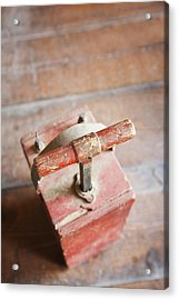 Dynamite Detonator Box. Plunger Handle Acrylic Print by Bryan Mullennix