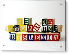 Dyslexia Acrylic Print by Photo Researchers, Inc.