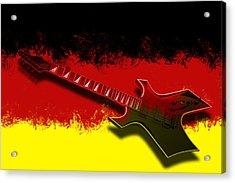 E-guitar - German Rock II Acrylic Print by Melanie Viola