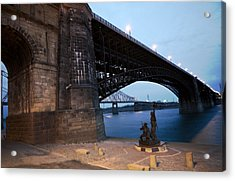 Eads Bridge Lewis And Clark Landing Acrylic Print
