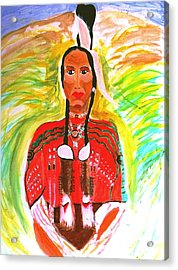 Eagle Feather Native American Acrylic Print