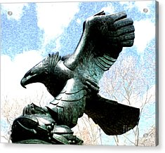 Acrylic Print featuring the photograph Eagle Of The East Coast Memorial by Anne Raczkowski