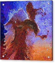 Eagle Rising Acrylic Print by Karen Balon