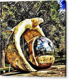 #eagle #statue #northdakota #bismarck Acrylic Print