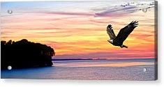 Acrylic Print featuring the photograph Eagle Sunrise by Randall Branham