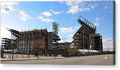 Eagles - The Linc Acrylic Print by Bill Cannon