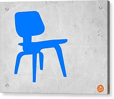 Eames Blue Chair Acrylic Print by Naxart Studio