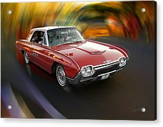 Early 60s Red Thunderbird Acrylic Print