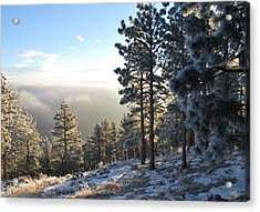 Early Am Above Boulder-photo Acrylic Print
