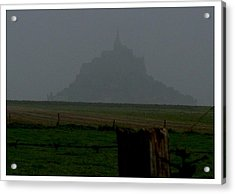 Acrylic Print featuring the photograph Early Am Approach To Le Mont-michel by Frank Wickham