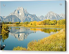 Early Autumn At Oxbow Bend Acrylic Print by Bob and Nancy Kendrick