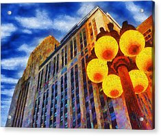 Early Evening Lights Acrylic Print by Jeffrey Kolker