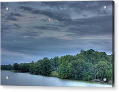 Early Moon Acrylic Print by Barry Jones