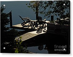Acrylic Print featuring the photograph Early Morning At The Lake by Cindy Manero