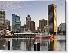 Early Morning Baltimore Inner Harbor Acrylic Print by Marianne Campolongo