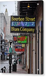 Early Morning Bourbon Street Acrylic Print by Bill Cannon