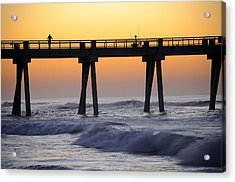 Acrylic Print featuring the photograph Early Morning Catch by Renee Hardison