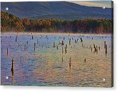 Early Morning Color Of Lake Wilhelmina-arkansas Acrylic Print by Douglas Barnard